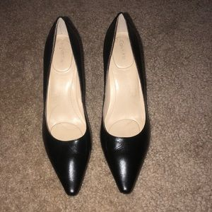 Like new! Calvin Klein Black Leather Heels